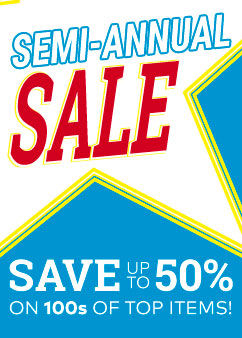 Semi Annual Sale!