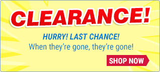 Clearance - When they're gone, they're gone!