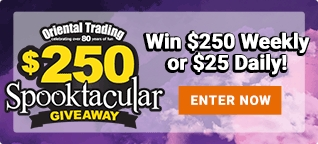 Enter Out Spooktacular Giveaway to win $250 Weekly or $25 Daily!