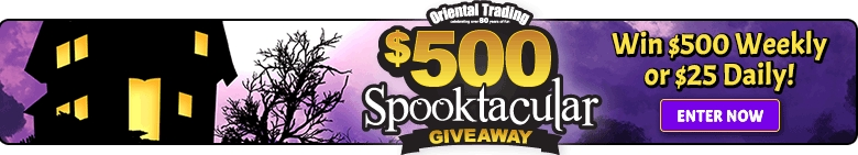 Spooktacular Giveaway - Win $500 Weekly or $25 Daily! - Enter Now