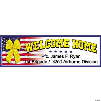 """Personalized """"Welcome Home"""" Banner  (MD)"""