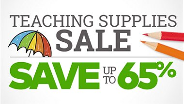 Teaching supplies sale, save up to 65% off