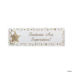 Personalized Gold Star Banner - Small
