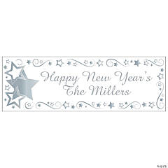 Personalized Silver Star Banner - Small