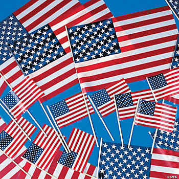 Patriotic Plastic American Flags