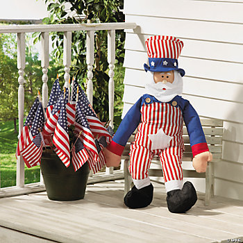 Festive Uncle Sam with Flags