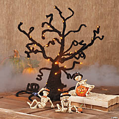 Ghost Tree with Scarecrows