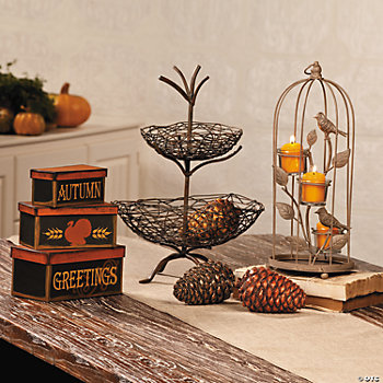 Bird Cage & Autumn Display
