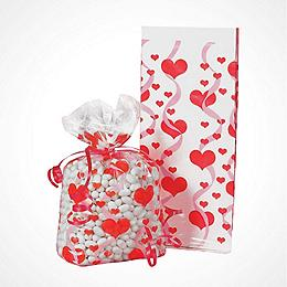 Valentine's Day Party Bags & Containers