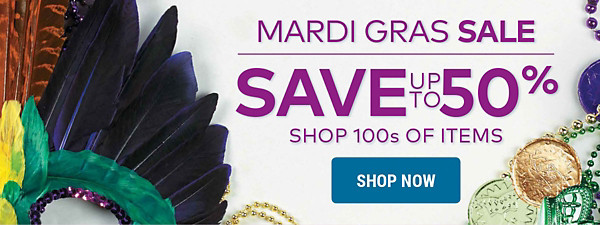 Mardi Gras Sale - Save up to 50%