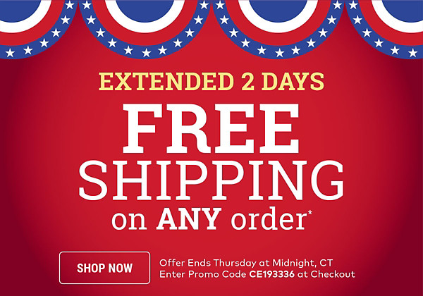 Free Shipping on Any Order*