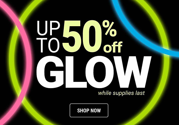 Glow up to 50% off