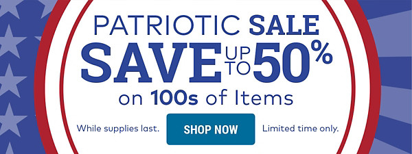 Patriotic Sale - Save up to 50%