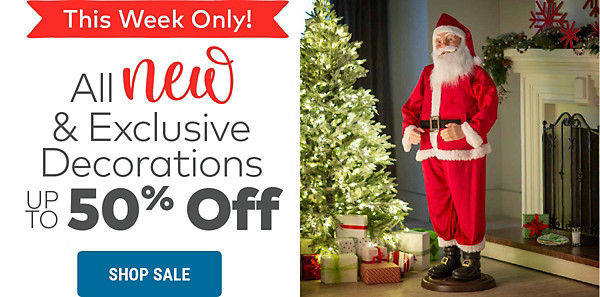 Decorations up to 50% off