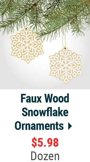 Faux Wood Snowflake