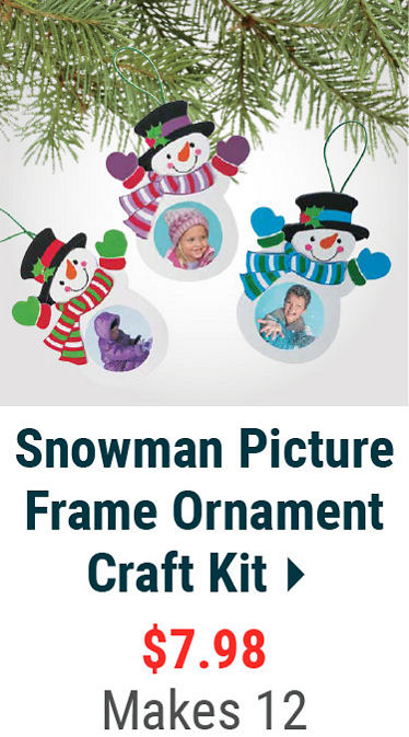 Snowman Picture Frame Ornament
