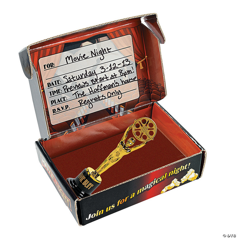 Movie Night Invitations In A Box