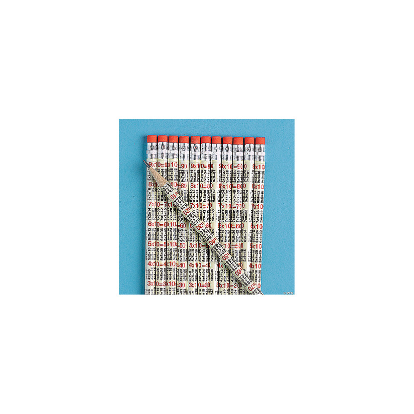 Multiplication Table Pencils Discontinued