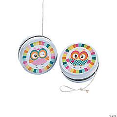 12 Owl Birthday Yo-Yo's