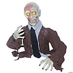 Animated Zombie with Glowing Eyes Halloween Décor