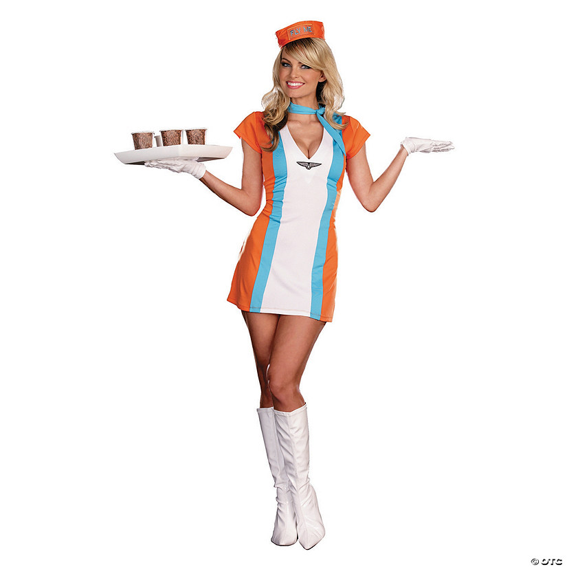 d5064ab5617 Women's Retro Flight Attendant Costume