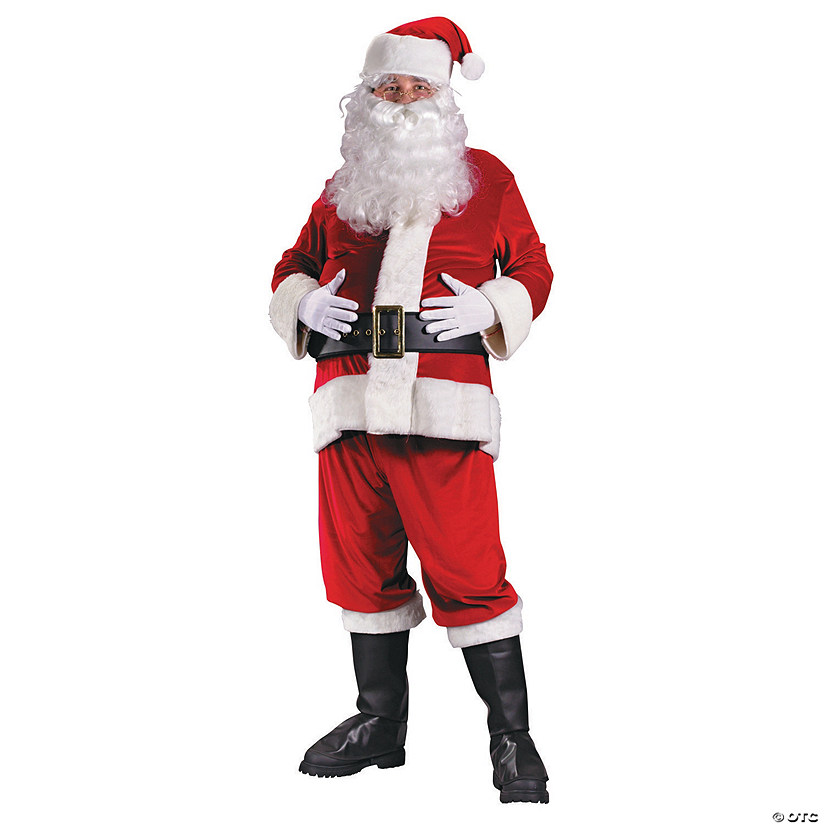 603df10924ad Men s Plus Size Rich Velvet Santa Suit Costume