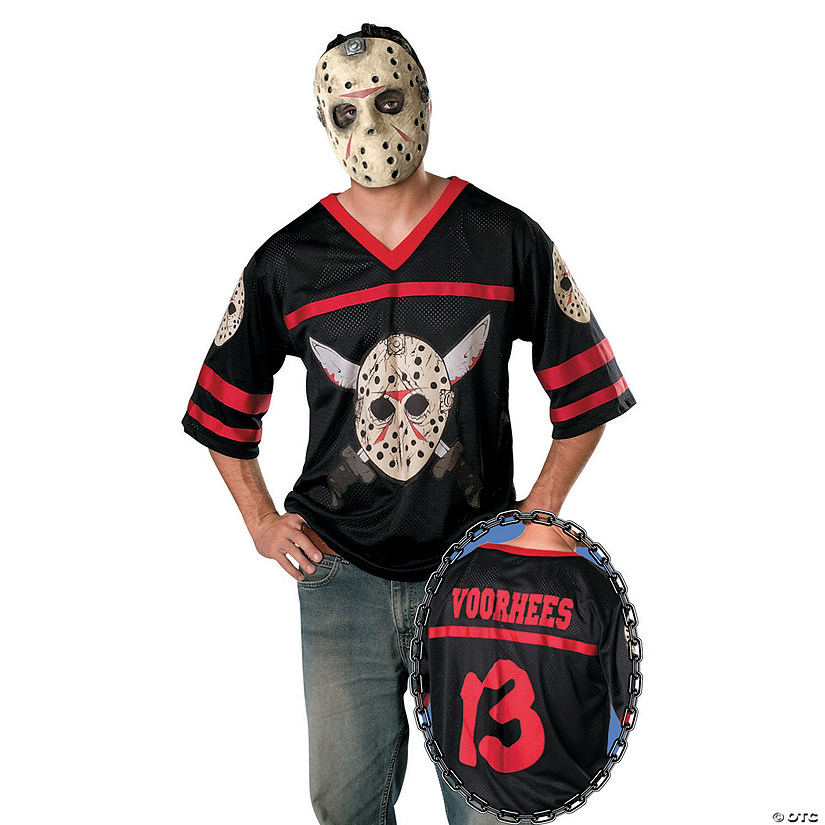 Halloween Costume Jason Friday 13th.Men S Friday The 13th Jason Hockey Jersey Costume