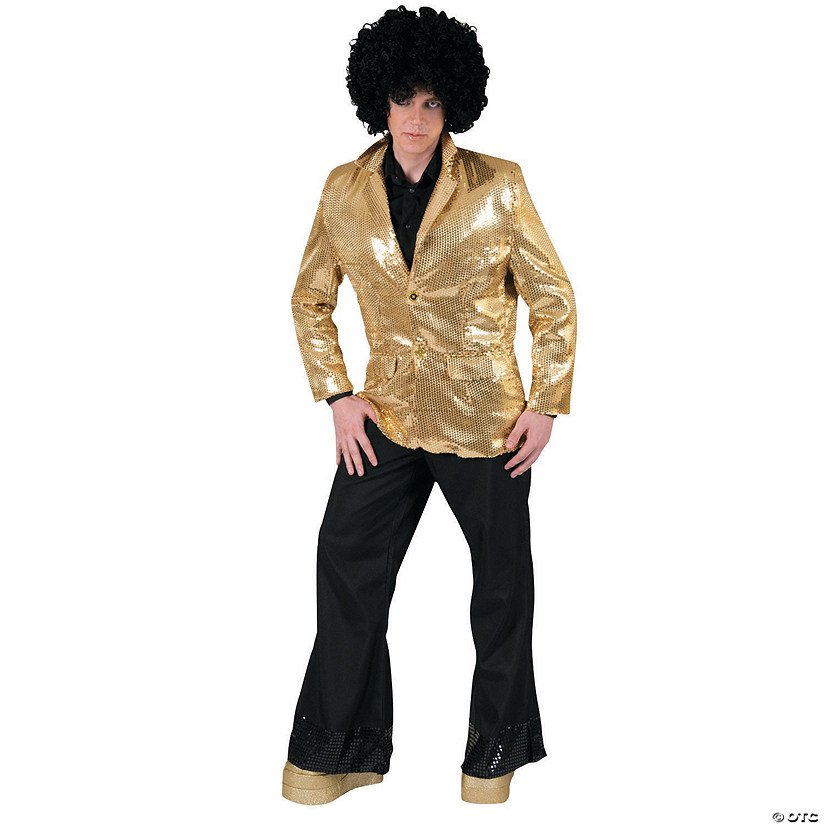 Halloween Costume Ideas For Men.Gold Disco Jacket Halloween Costume For Men