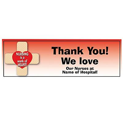 photo regarding Printable Nurses Week Games named Tailored Medium Nurses 7 days Vinyl Banner Oriental Buying and selling