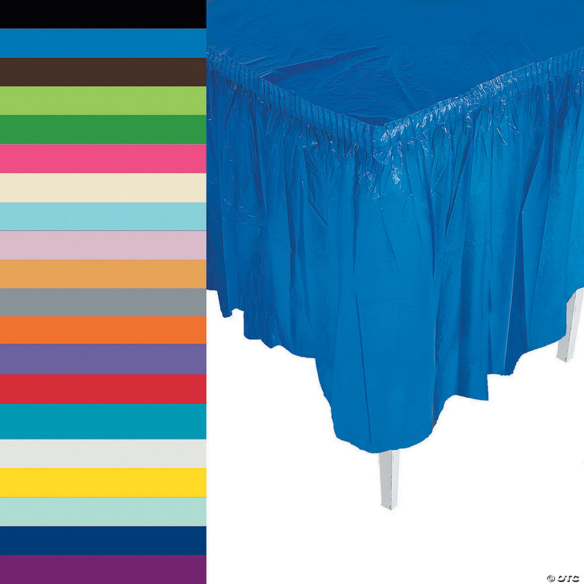 7cc15ab9d Pleated Table Skirts | Oriental Trading