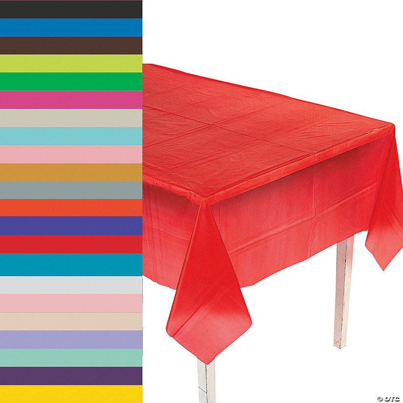 Rectangle Plastic Tablecloth Oriental Trading