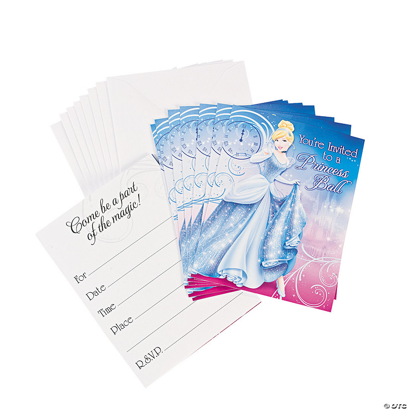 disney s cinderella sparkle invitations