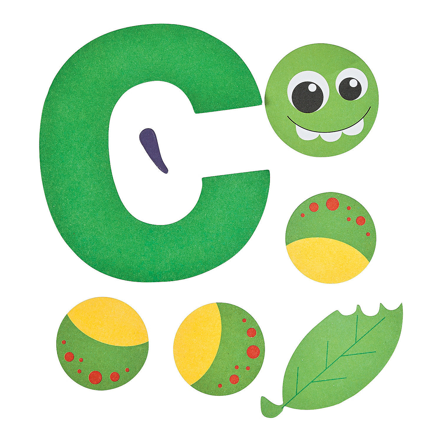 letter c crafts c is for caterpillar lowercase letter c craft kit 46152