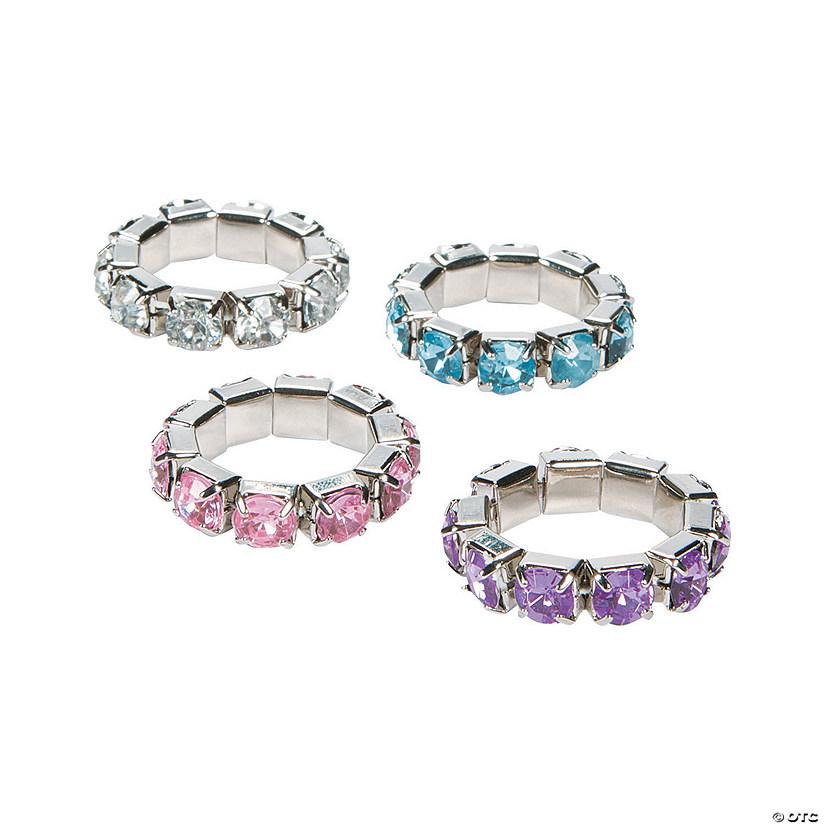 Rhinestone Stretchy Rings Oriental