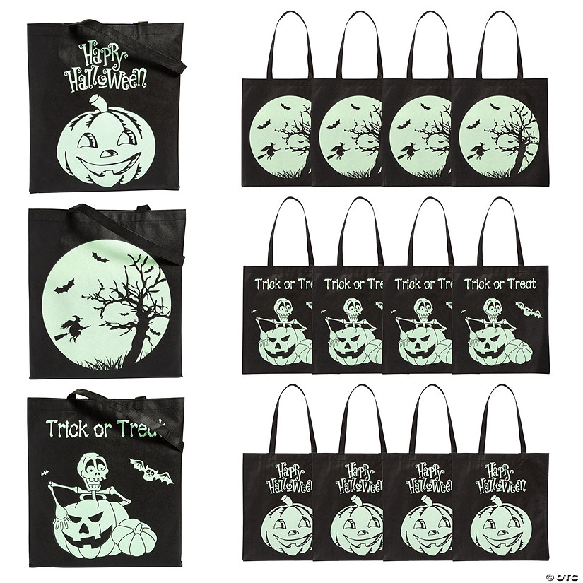 Glow-in-the-dark spider tote bag