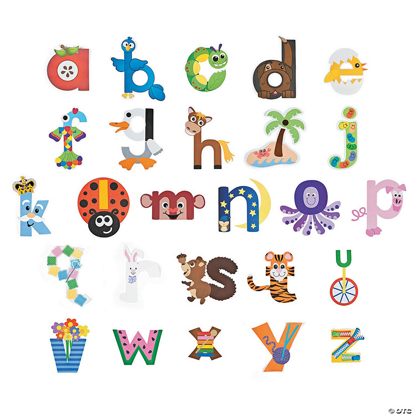 Lowercase Letters Craft Kits Oriental Trading