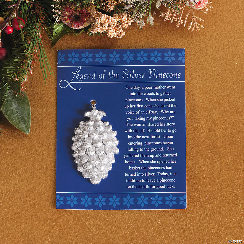 "Legend Of The Christmas Tree Poem: ""Legend Of The Silver Pinecone"" Christmas Ornaments"