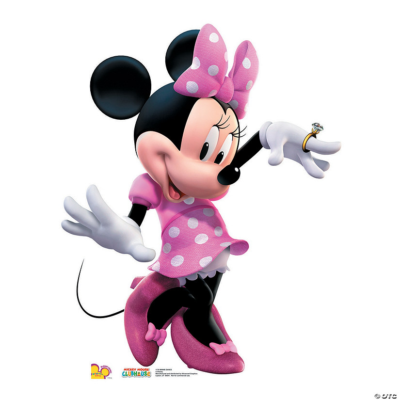 minnie mouse dance cardboard stand