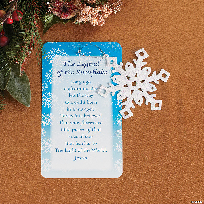 legend of the snowflake christmas ornaments - Snowflake Christmas Decorations