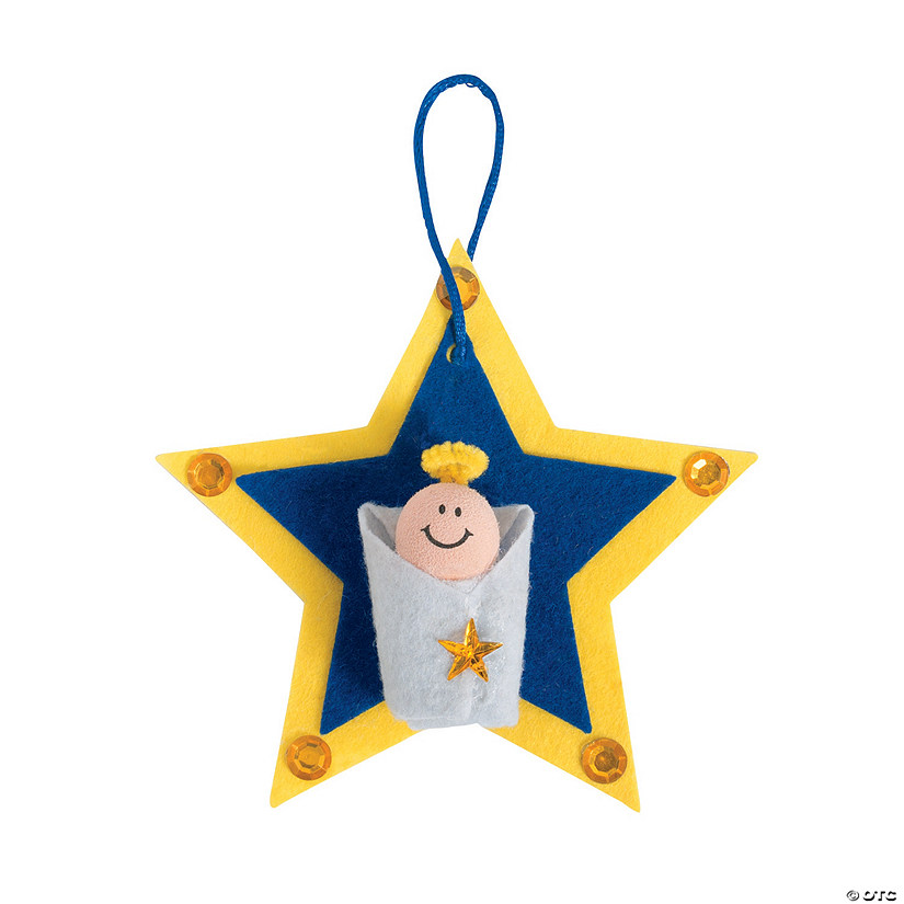 Baby Jesus Star Christmas Ornament Craft Kit Discontinued