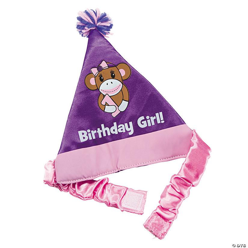 1st Birthday Miss Sock Monkey Party Hat
