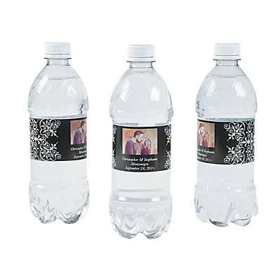 Custom Photo Wedding Water Bottle Labels Oriental Trading