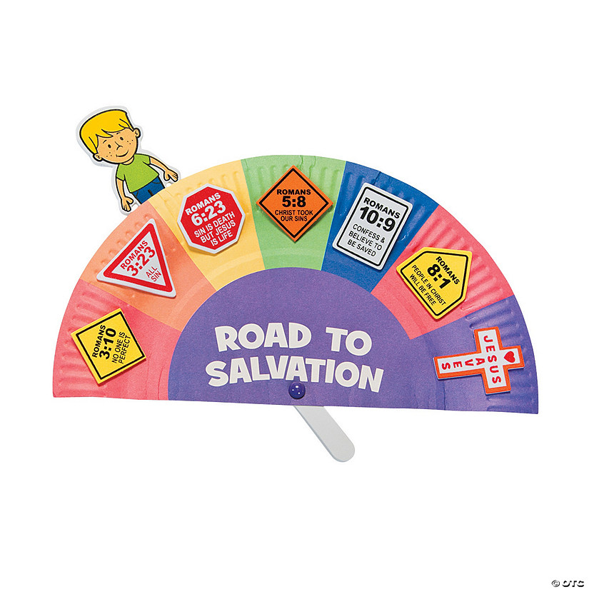 image regarding Romans Road to Salvation Printable identified as Street towards Salvation Paper Plate Craft Package - Discontinued