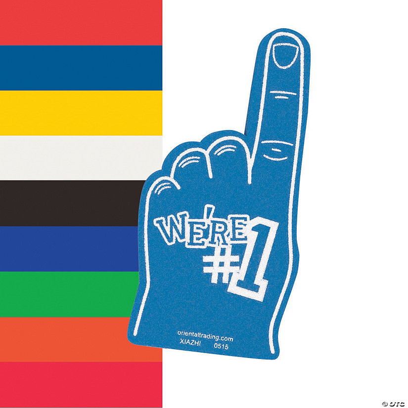 Foam Finger Hand Printed Happy Birthday Party Pack