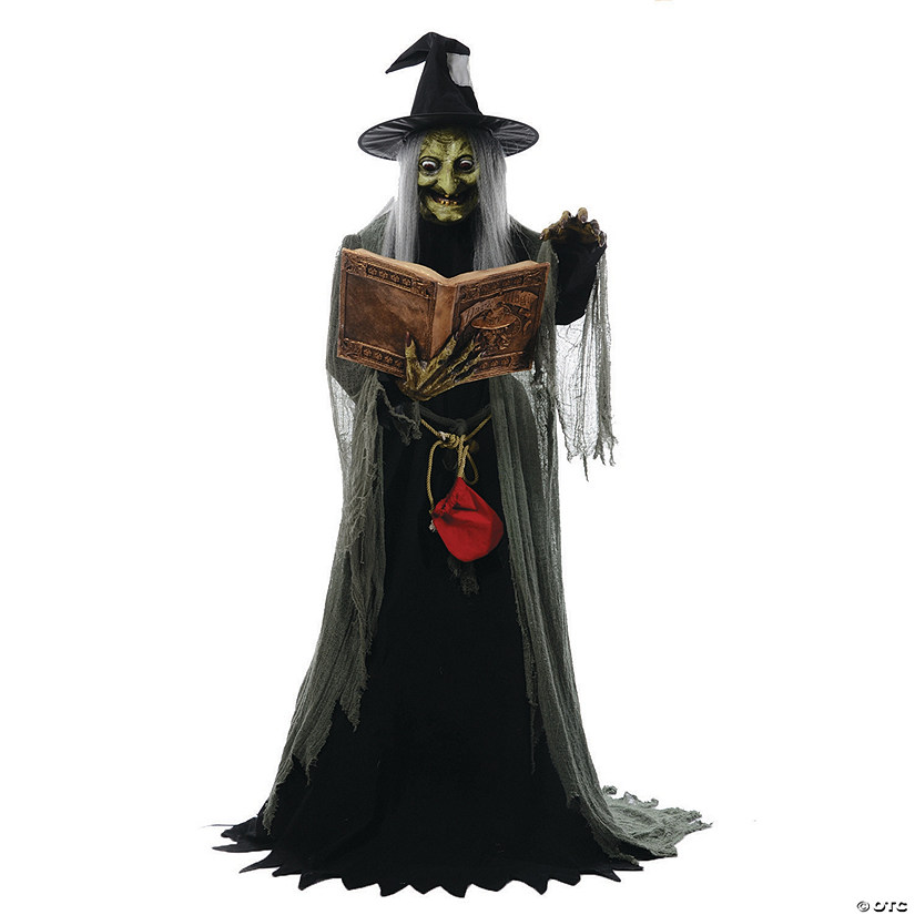 Halloween Fortune Teller Animatronic.Animated Spell Speaking Witch Halloween Decoration