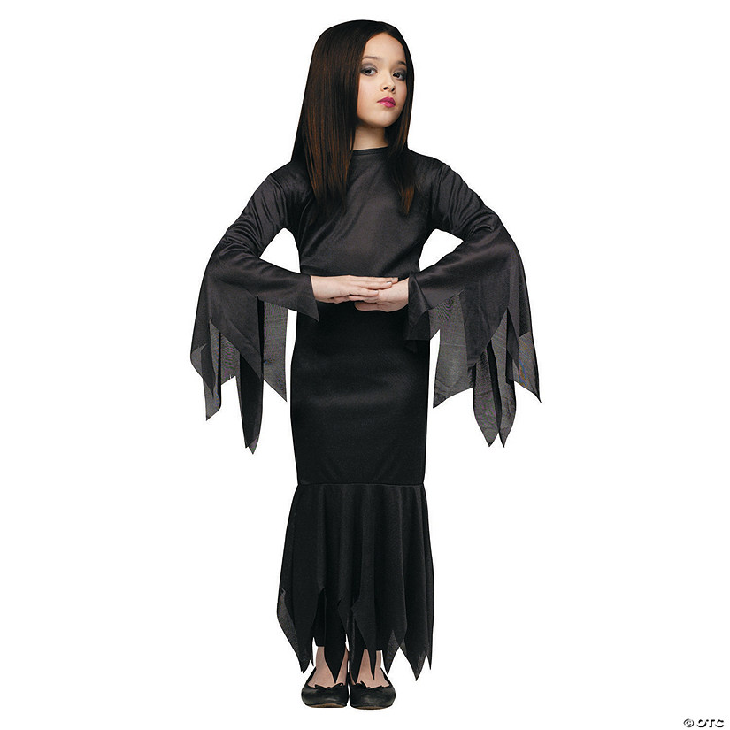 Girls The Addams Family Morticia Costume Oriental Trading
