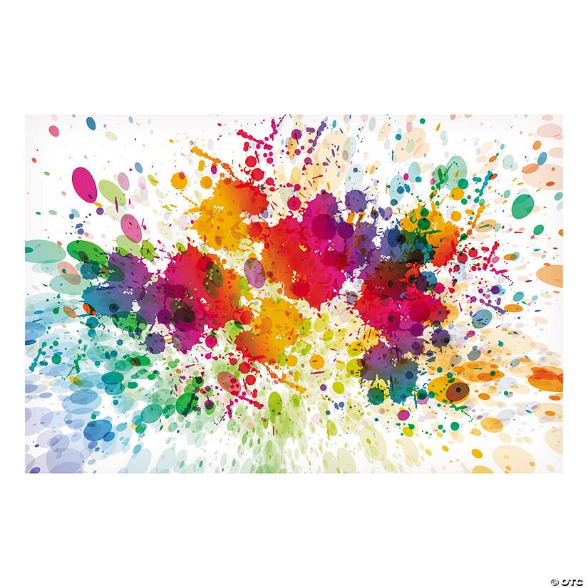 Paint Splattered Backdrop Oriental Trading