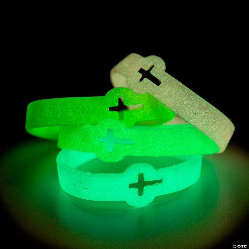 Cutout Cross Glow In The Dark Faith Rubber Bracelets