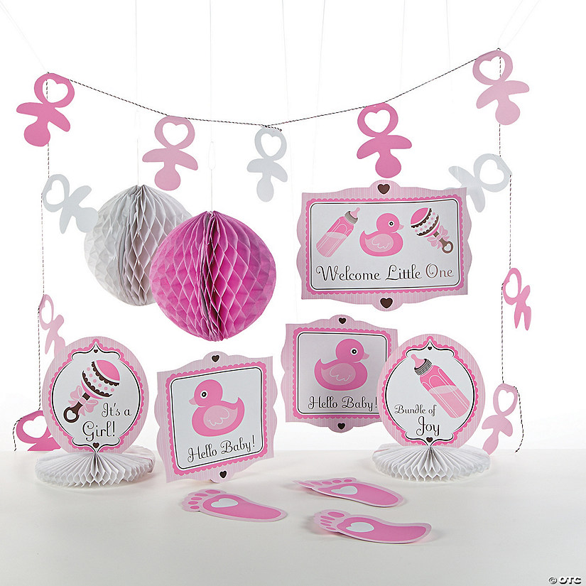 Girl S Baby Shower Decorating Kit Oriental Trading