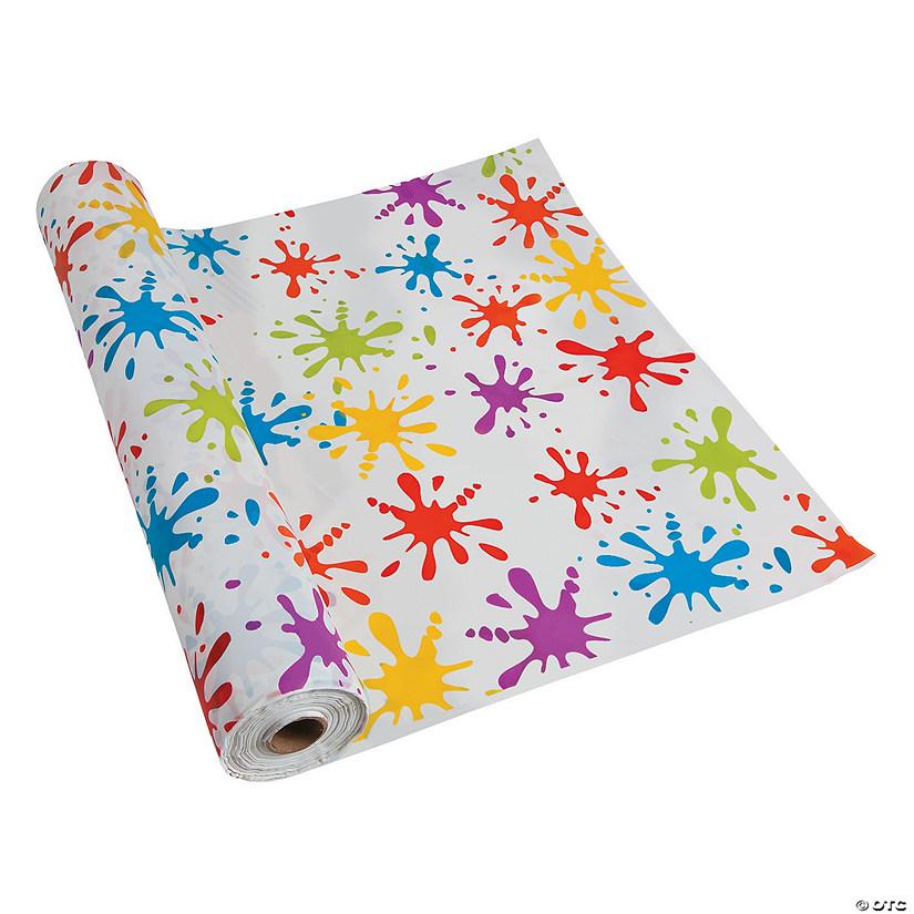 Paint Splatter Plastic Tablecloth Roll Oriental Trading